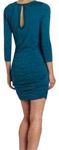 SOLOW short dress Deep Emerald. Teal blue green Sexy Open Back Fall Cotton Stretchy on Tradesy