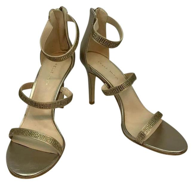 Pelle Moda Embellished Champagne Leather Evening Formal Heels M Sandals Size US 9 Regular (M, B) Pelle Moda Embellished Champagne Leather Evening Formal Heels M Sandals Size US 9 Regular (M, B) Image 1