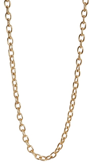 Item - Gold Tone Long Oval Chain Link Necklace