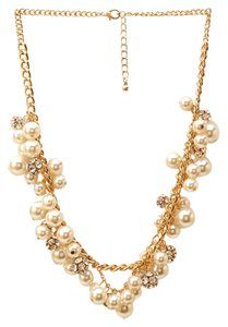 Forever 21 Forever 21 Pearl and Crystal Cluster Necklace