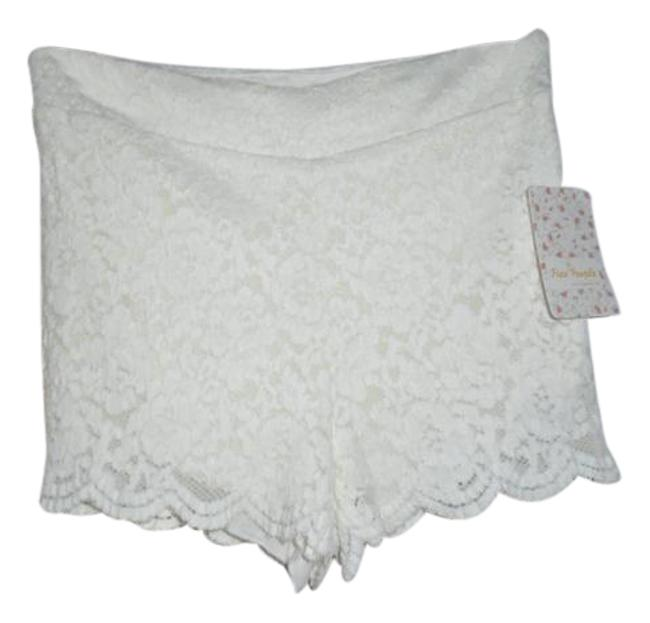 Free People Ivory Lace F025p334s Shorts Size 4 (S, 27) Free People Ivory Lace F025p334s Shorts Size 4 (S, 27) Image 1