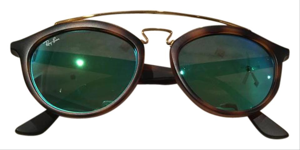 708a2ed194 Ray-Ban Tortoise Gold Green Mirror Rb4257 Gatsby Ii Sunglasses - Tradesy