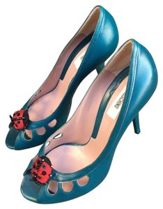 Moschino blue, red, black. Pumps