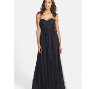 Jenny Yoo Black Tulle Strapless Formal Bridesmaid/Mob Dress Size 2 (XS)