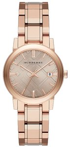 Burberry 100% NEW IN THE BOX The City Burberry Ladies Rose Gold Watch BU9135