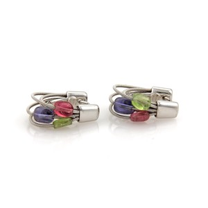 Marco Bicego 19056. Tourmaline 18k Gold Multi Cable Hoop Earrings