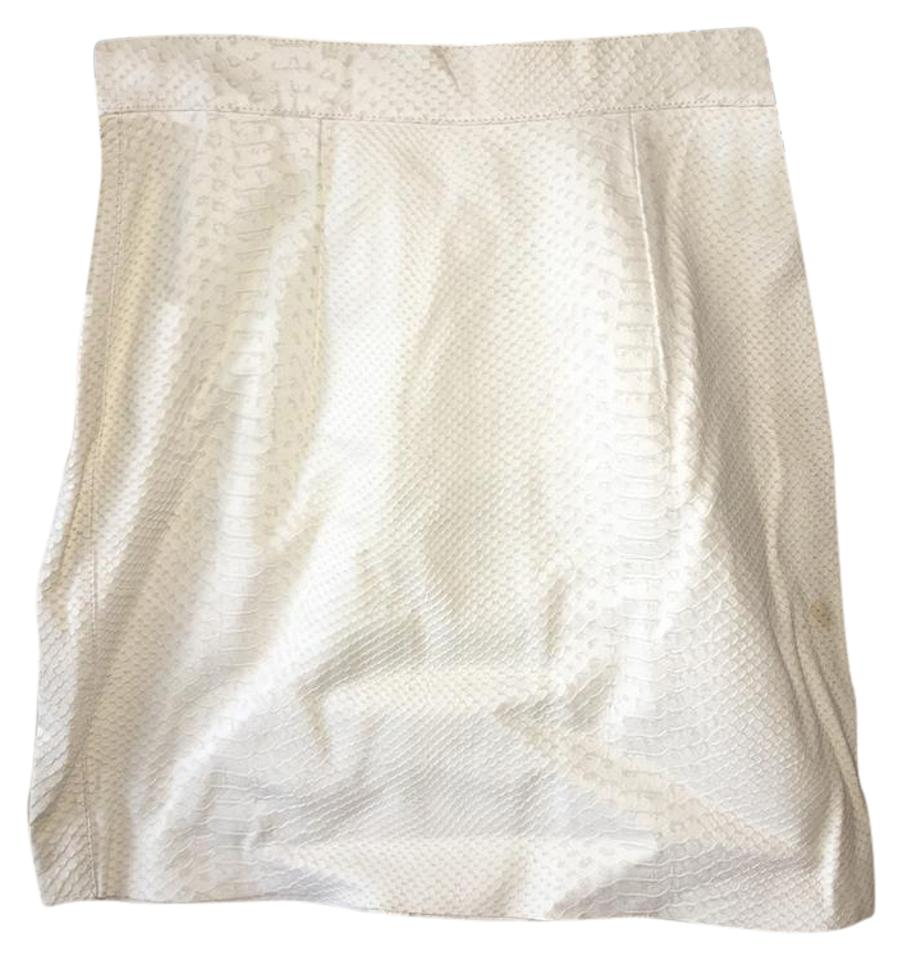 fa939fd8a9 American Apparel White Snakeskin Genuine Leather Skirt Size 0 (XS ...