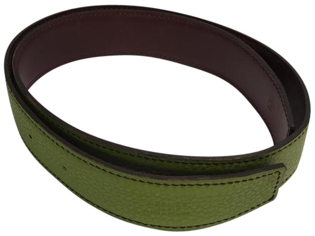 Item - Green and Brown Reversible Anis Green/Marron Strap Belt