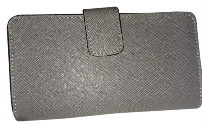 Grey Ladies Wallet/Tech Case with Embossed Cross Wallet Grey Ladies Wallet/Tech Case with Embossed Cross Wallet Image 1