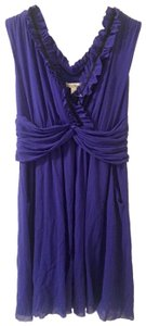 Weston Wear Ruffle Fall Nylon Stretchy A-line Dress