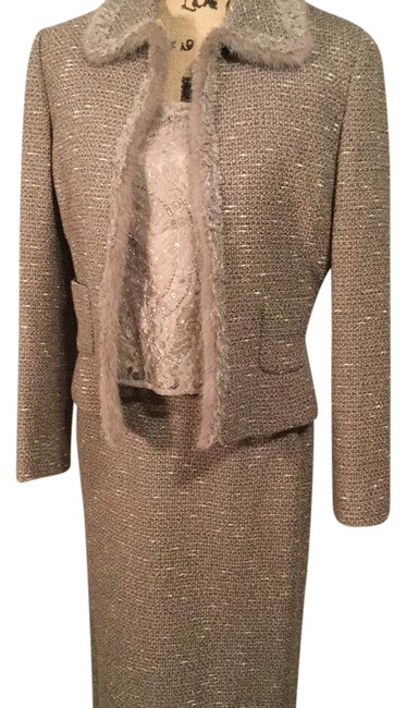 Item - Taupe 3 Piece Skirt Suit Size 6 (S)