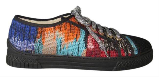 Chanel Multicolor 17c New Low Lace Up Tweed Fashion Sneakers Size EU 39.5 (Approx. US 9.5) Regular (M, B) Chanel Multicolor 17c New Low Lace Up Tweed Fashion Sneakers Size EU 39.5 (Approx. US 9.5) Regular (M, B) Image 1