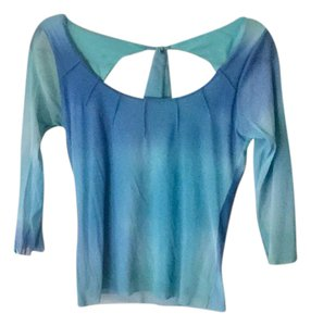 Weston Wear Open Back Bohemian Ombre Boho Top tie dye teal