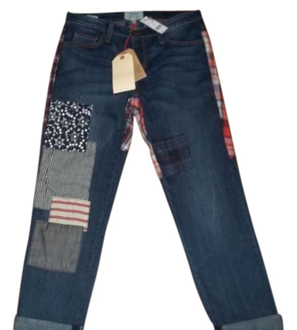 Item - with Patches Dark Rinse The Fling In Patchwork Boyfriend Cut Jeans Size 27 (4, S)