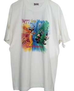 Disney Walt World Mouse New Years Eve 2000 T Shirt White