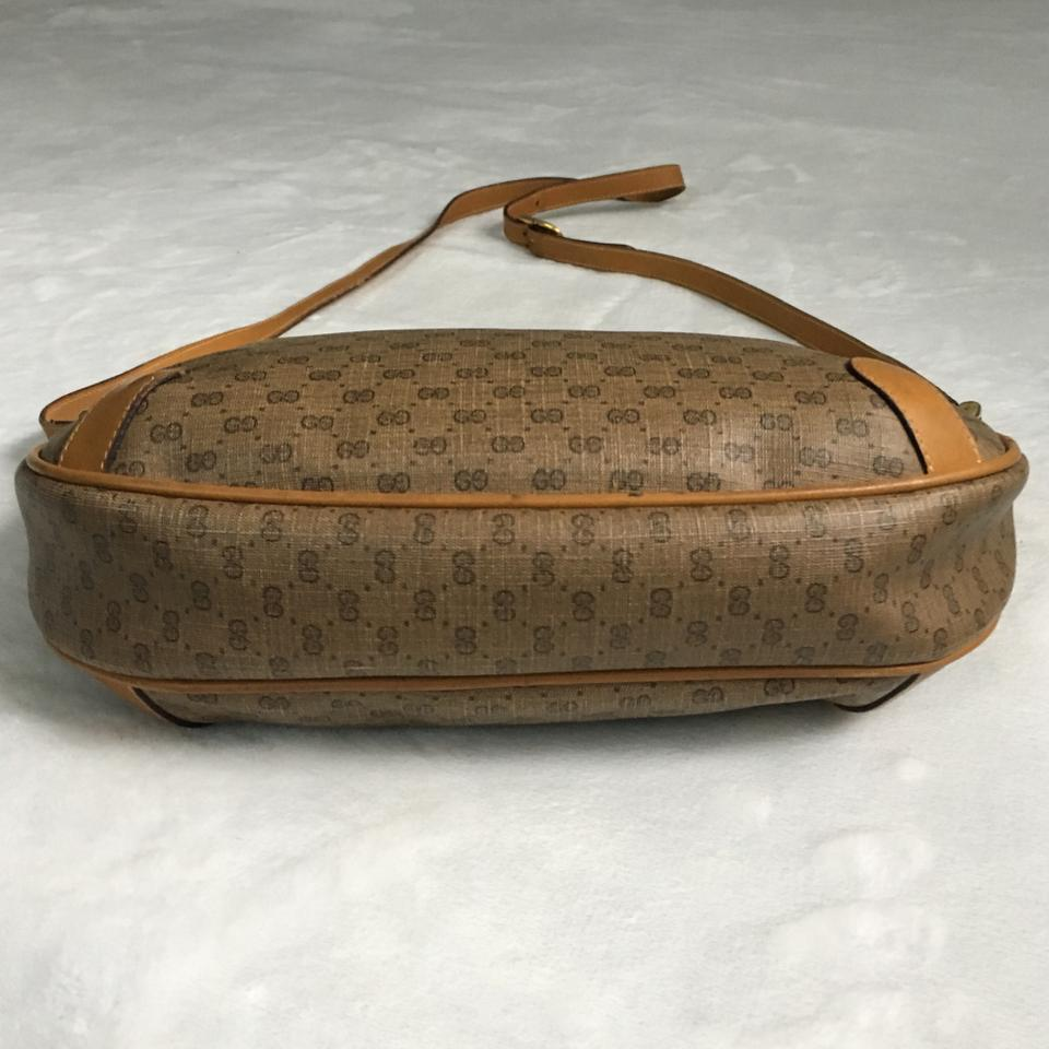 dec3e324dbf Gucci Vintage Micro Gg Supreme Tan Coated Canvas Shoulder Bag - Tradesy
