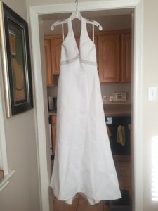 Galina White Polyester T8404 Casual Wedding Dress Size 4 (S)