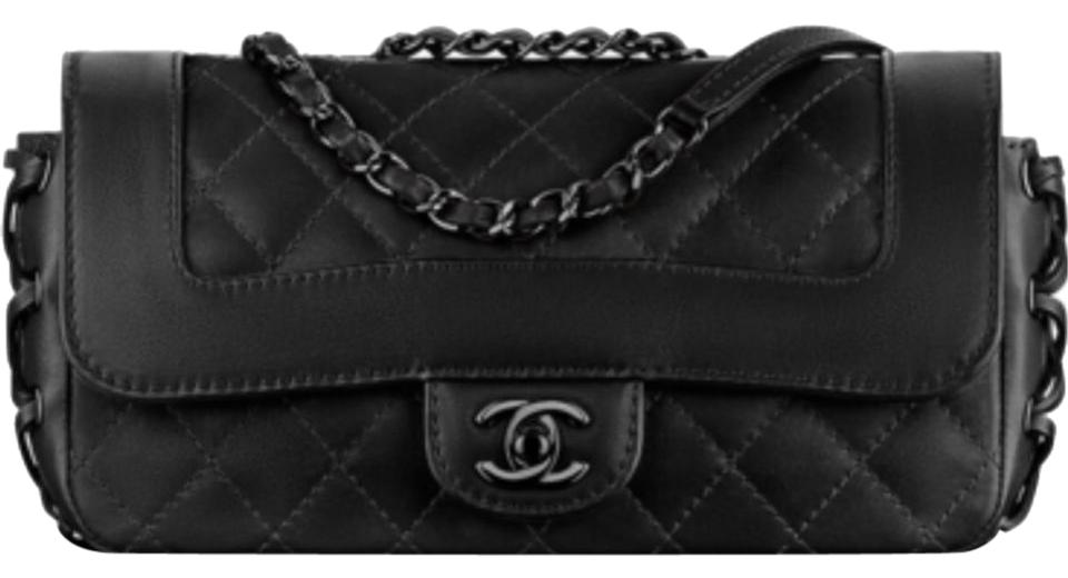 82610cadd8fa Chanel Classic Coco-corset 2016 Quilted Flap 16k A98748 Black Calfskin  Leather Shoulder Bag