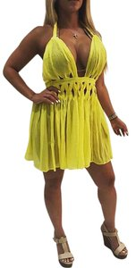 Luxxel short dress yellow on Tradesy