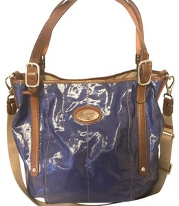 Tod's Tote in blue and brown