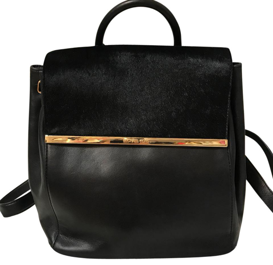 1f5f2b3b5aeb Michael Kors With Black Leather and Fur Backpack - Tradesy