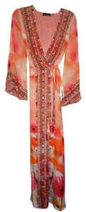 Maxi Dress by Shahida Parides Crysals Embellished Kimono