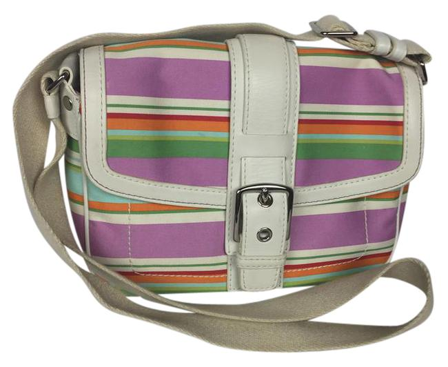 Coach Hampton Striped Multicolor Canvas Cross Body Bag Coach Hampton Striped Multicolor Canvas Cross Body Bag Image 1