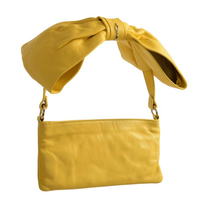 RED Valentino Clutch Women's Yellow Leather Shoulder Bag RED Valentino Clutch Women's Yellow Leather Shoulder Bag Image 1