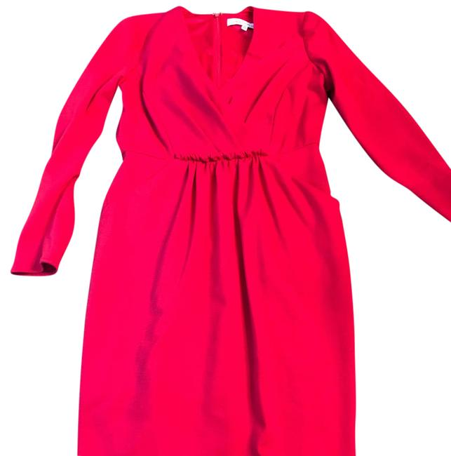 Carmen Marc Valvo Red Mid-length Cocktail Dress Size 6 (S) Carmen Marc Valvo Red Mid-length Cocktail Dress Size 6 (S) Image 1
