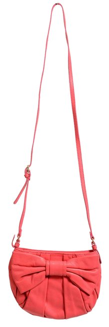 RED Valentino Women's Bow Decorated Pink Leather Shoulder Bag RED Valentino Women's Bow Decorated Pink Leather Shoulder Bag Image 1