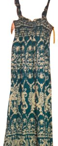 Turquoise and white Maxi Dress by SO