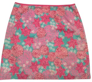 Lilly Pulitzer Mini Skirt Pink and Blue
