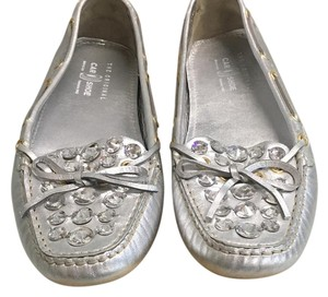 The Original Car Shoe Silver Flats