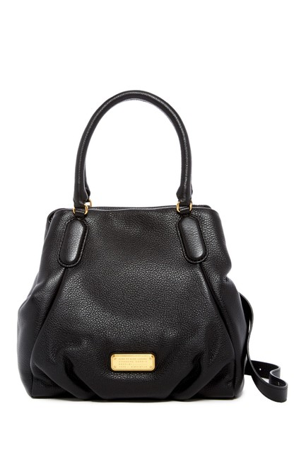 Marc by Marc Jacobs New Q Fran Black Leather Satchel Marc by Marc Jacobs New Q Fran Black Leather Satchel Image 1