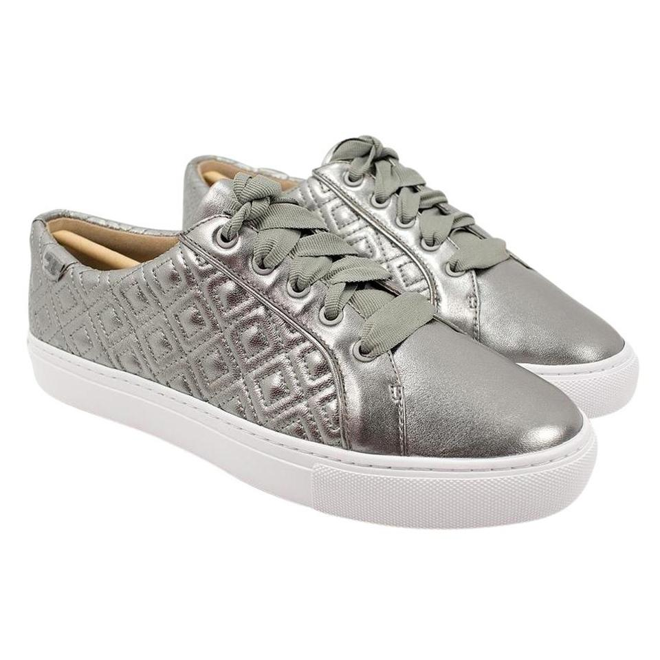 d7e7890bdbcd27 Tory Burch Gunmetal Marion Quilted Sneakers Sneakers Size US 8 ...