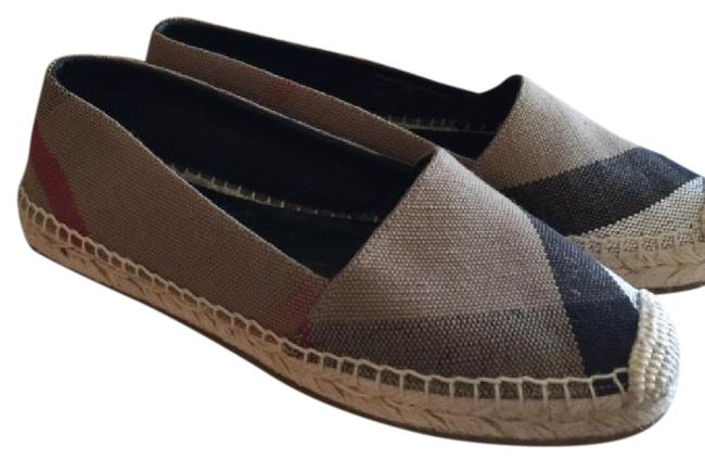 Item - Multi Brown White Checker Espadrilles Flats Size US 5 Regular (M, B)