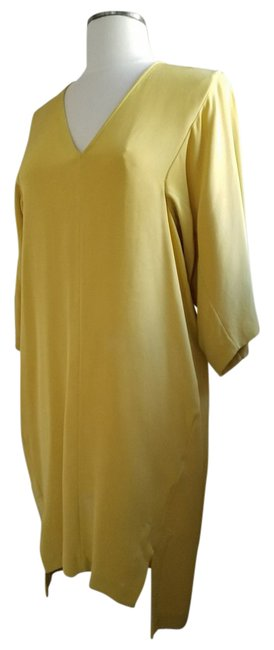 Preload https://img-static.tradesy.com/item/21826957/zero-maria-cornejo-yellow-silk-tunic-short-cocktail-dress-size-4-s-0-1-650-650.jpg