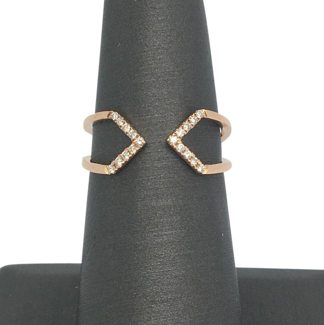 14k Rose Gold Natural Genuine Diamond Ring 14k Rose Gold Natural Genuine Diamond Ring Image 1