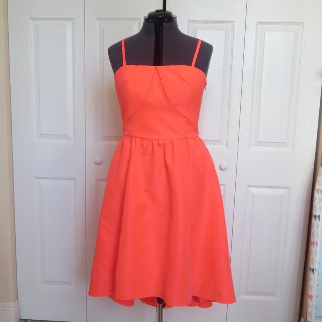 Preload https://img-static.tradesy.com/item/21827474/ted-baker-orange-asymmetrical-mid-length-night-out-dress-size-8-m-0-0-650-650.jpg