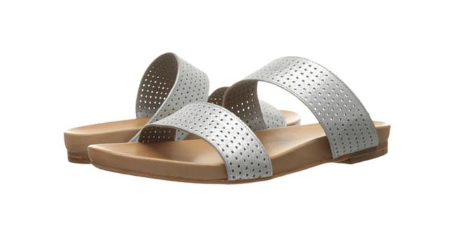 Johnston & Murphy Silver Box Jodi Perforated Slide Metallic Suede New In 9m Sandals Size US 9 Regular (M, B) Johnston & Murphy Silver Box Jodi Perforated Slide Metallic Suede New In 9m Sandals Size US 9 Regular (M, B) Image 1