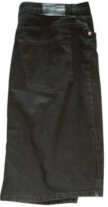 Ralph Lauren Denim Pencil Cotton Skirt Black