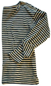 Ann Taylor LOFT Boat Neck Striped Embellished Cotton Sweater