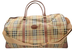 Burberry Travel Nova Plaid Check Travel Bag
