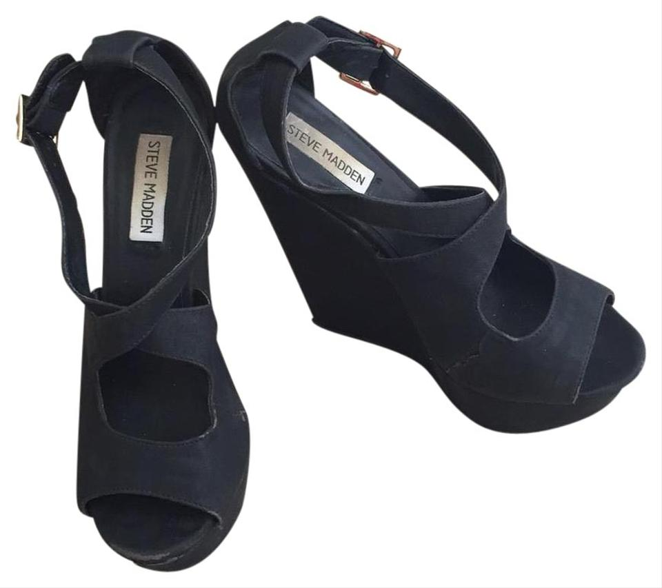 sale 100% quality attractive price Black Going Out Heels Wedges