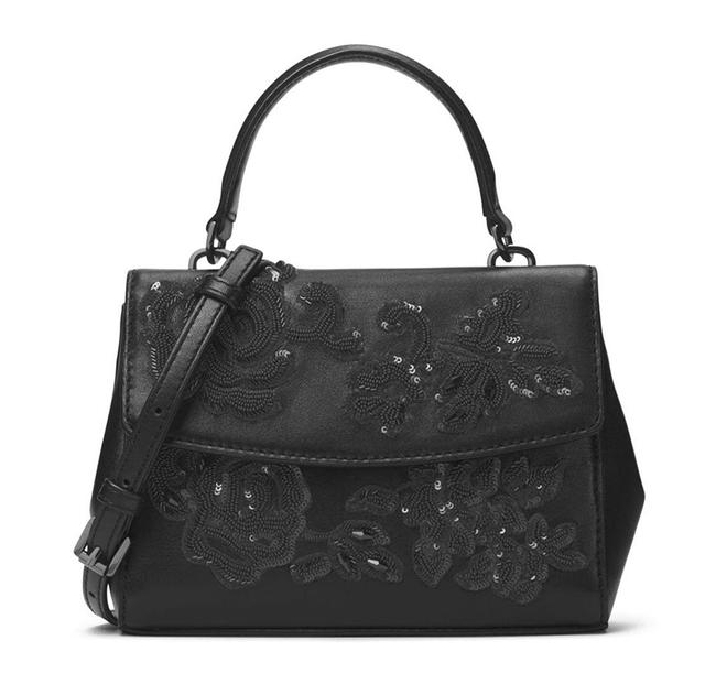 MICHAEL Michael Kors XS Ava Beaded Smooth Black Leather Satchel MICHAEL Michael Kors XS Ava Beaded Smooth Black Leather Satchel Image 1