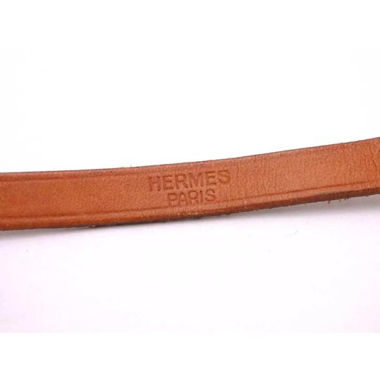 Hermès Hermes Brown Leather Buckle Bracelet Image 10