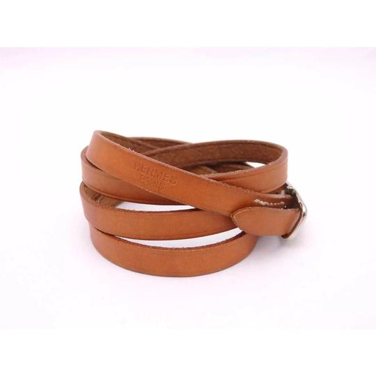Hermès Hermes Brown Leather Buckle Bracelet Image 2