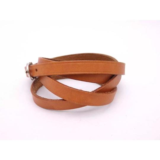 Hermès Hermes Brown Leather Buckle Bracelet Image 3