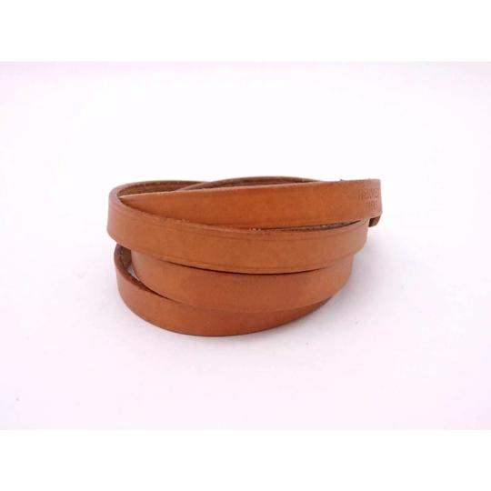 Hermès Hermes Brown Leather Buckle Bracelet Image 4