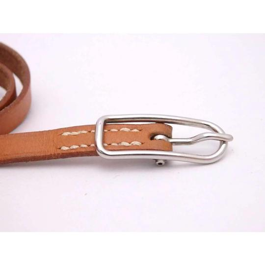 Hermès Hermes Brown Leather Buckle Bracelet Image 6